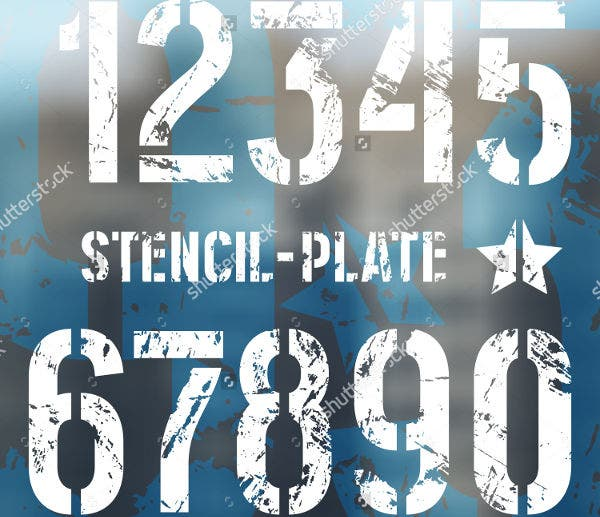 9 Number Stencils Free Sample Example Format Download