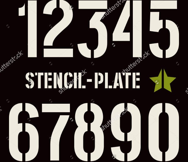 9 Number Stencils Free Sample Example Format Download Free