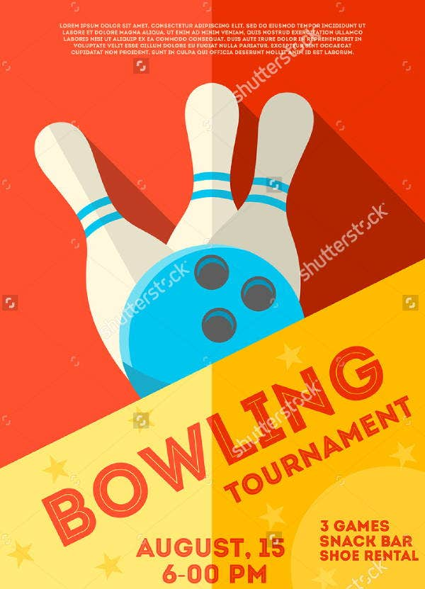 Vintage Bowling Tournament Flyer