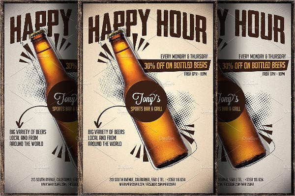 Beer Promotion Happy Hour Flyer
