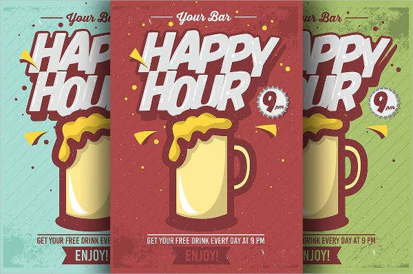 Comic Happy Hour Flyer