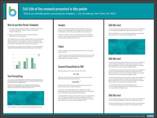 7 awesome powerpoint poster templates free premium templates powerpoint research poster template toneelgroepblik Gallery