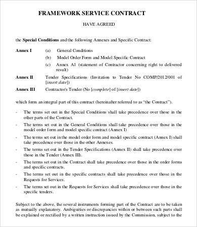 Service Contract Form. Printable Sample Lawn Service Contract Form ...