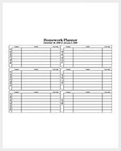 Five-Day-Homework-Planner
