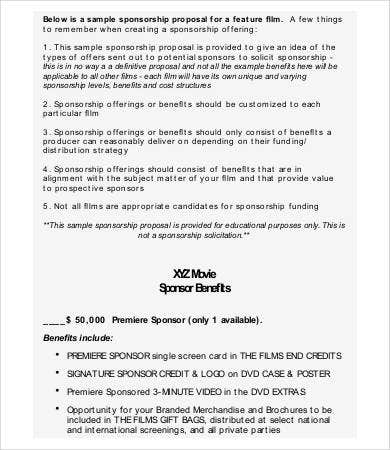 Sponsorship Proposal - 14+ Free PDF, Word Documents Download | Free