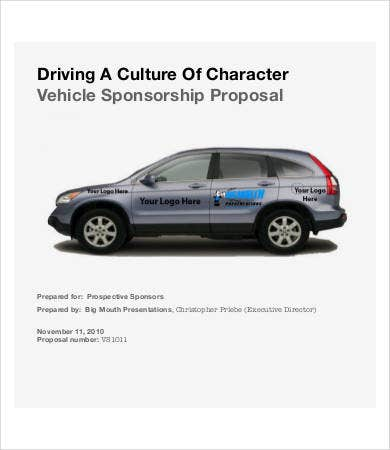 vehicle sponsorship proposal