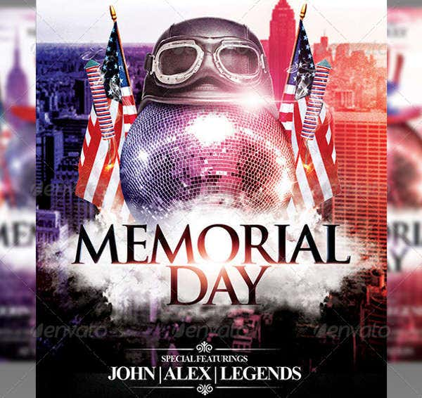 Editable Memorial Day Party Flyer
