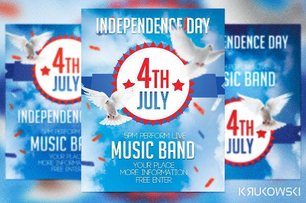 American Patriotic Flyer Template