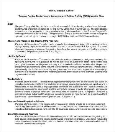 Hospital Performance Improvement Plan Template  Example Of Performance Improvement Plan