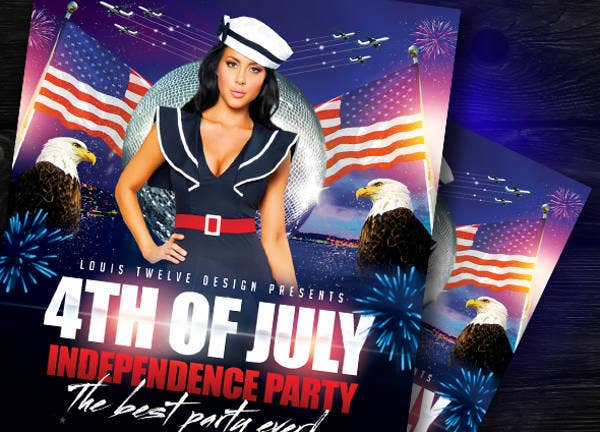 Printable Independence Day Flyer Template