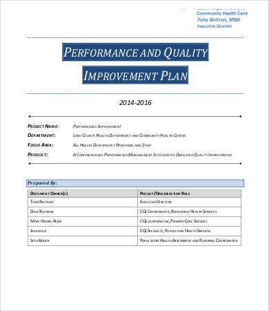 management performance improvement plan template