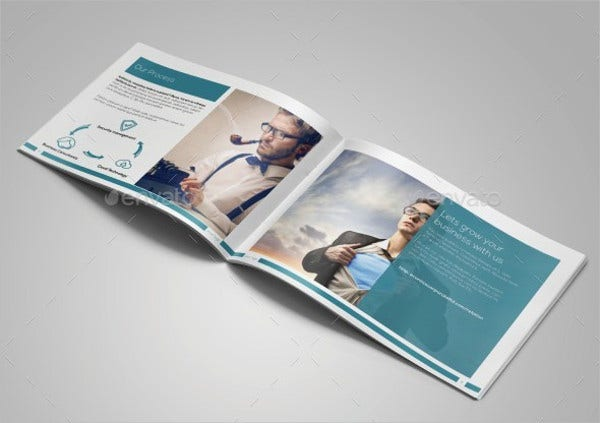 Landscape Brochures Free PSD Vector AI EPS Format Download - A5 brochure template