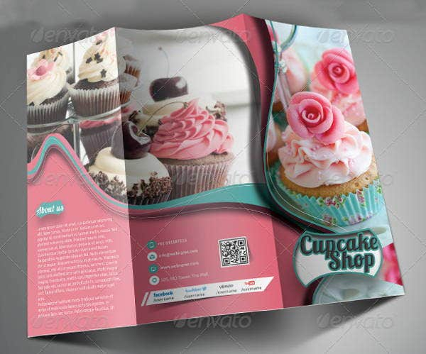 Bakery Brochures Printable PSD AI InDesign Vector EPS - Bakery brochure template