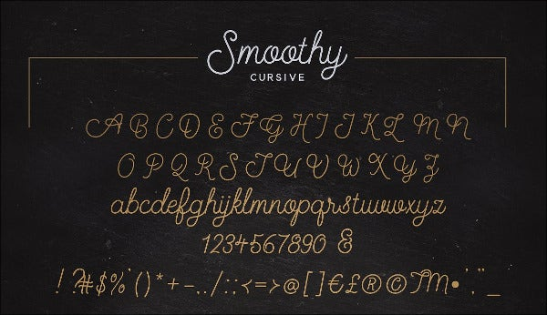 Alphabet Cursive Font