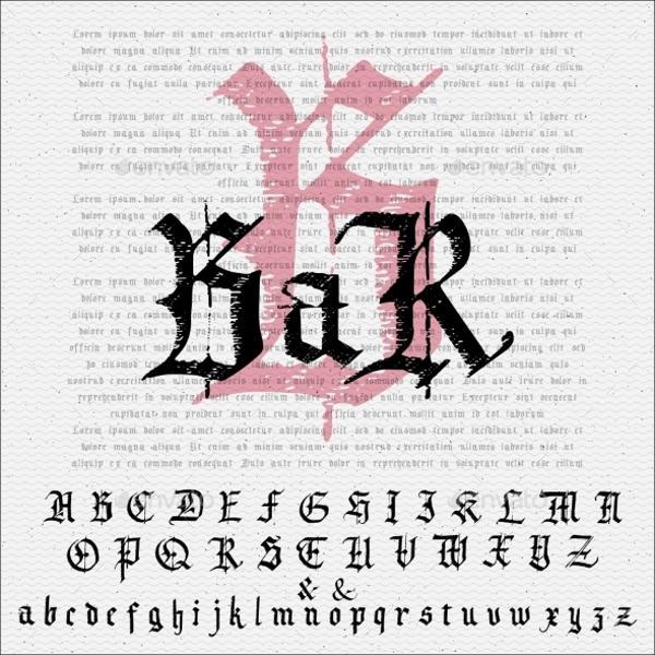 Gothic Alphabet Font