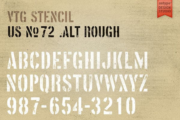Vintage Style Stencils Letters