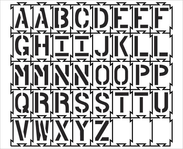 Interlocking Alphabet Stencils