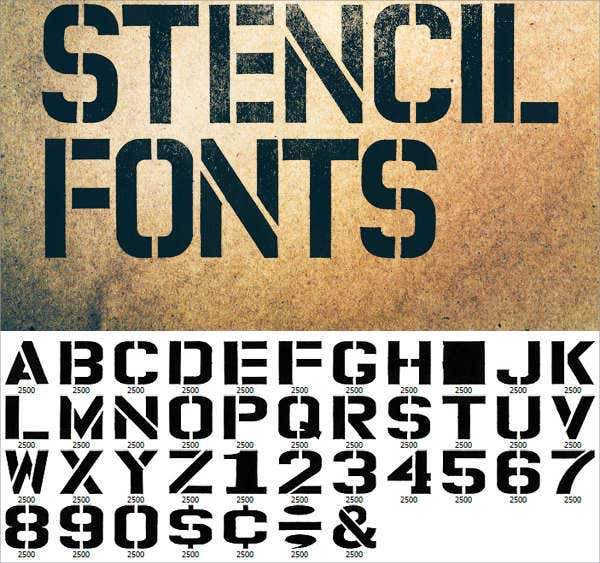 Free Download Stencils Letters