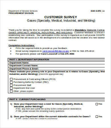Printable Survey Template   Free Word Pdf Documents Download