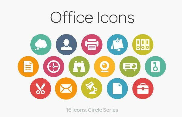office-circle-icons