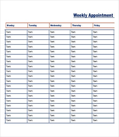 printable appointment schedule template koni polycode co
