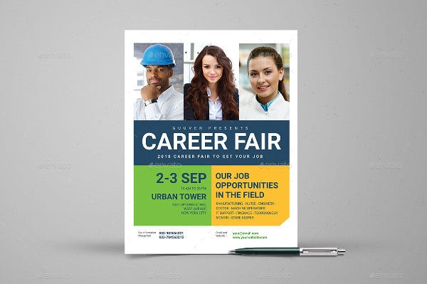 Minimal Career Fair Flyer