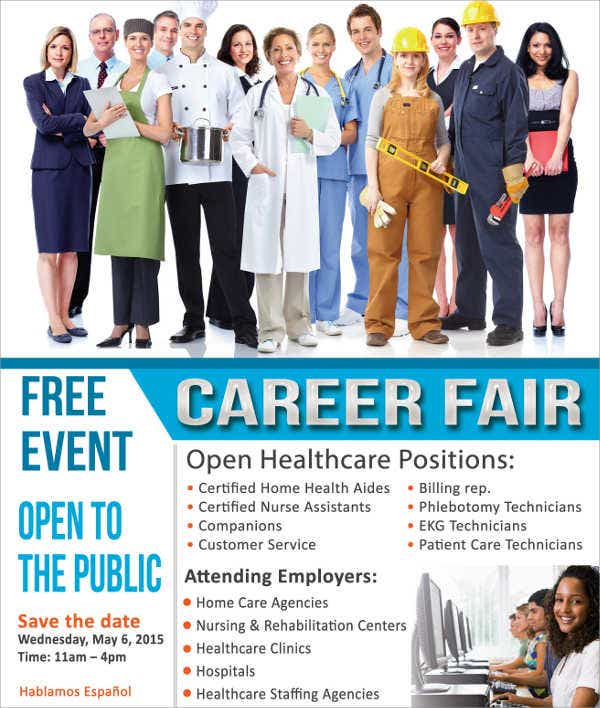 Academy Career Job Fair Flyer