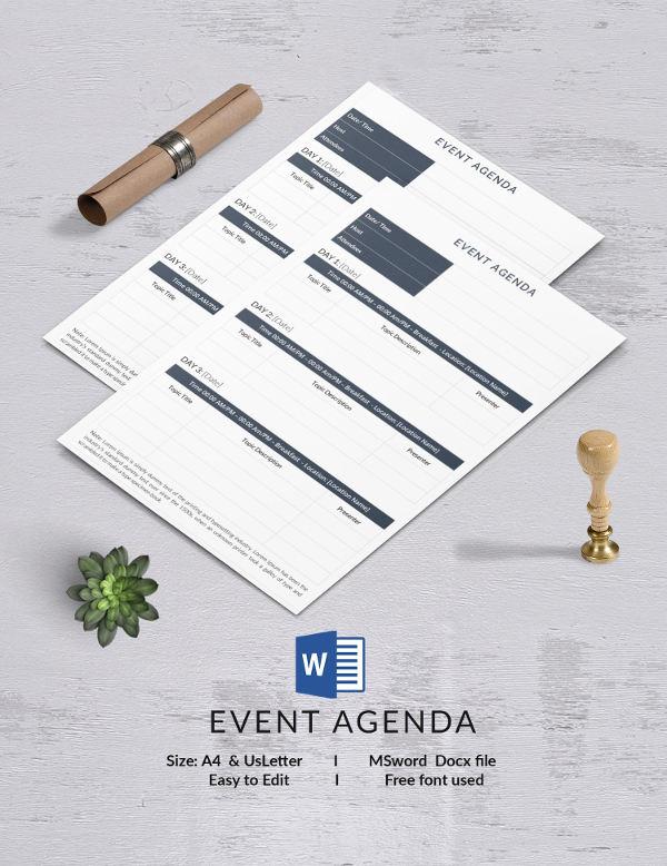 event agenda template