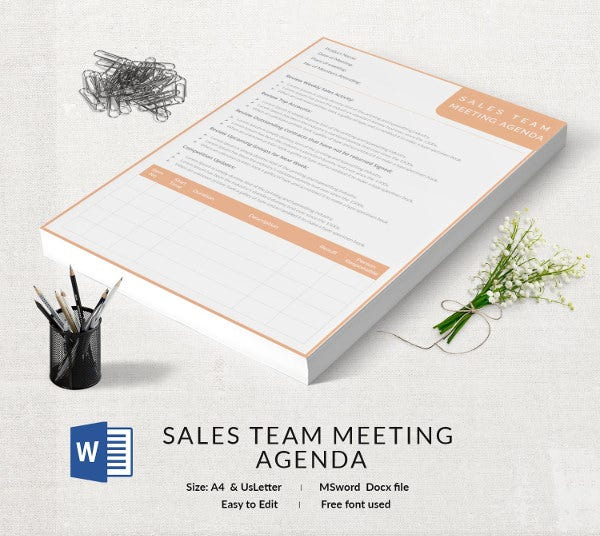 sales team meeting agenda