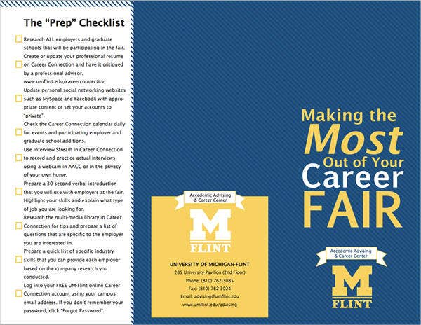 Career Job Fair Brochure