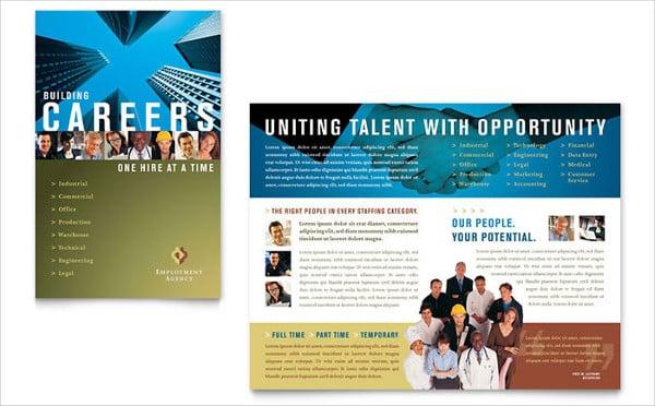 company job fair brochure