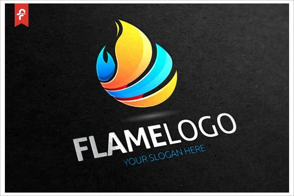 Hot Flame Logo Template
