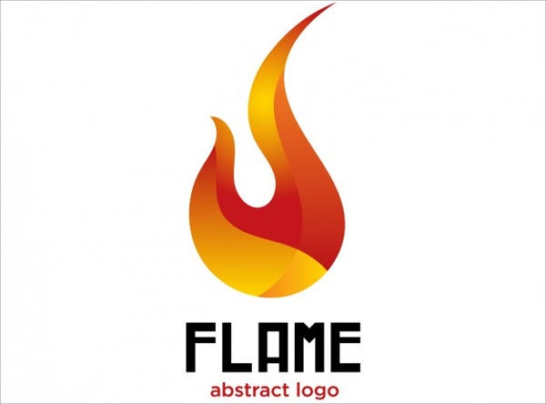 Free Abstract Flame Logo