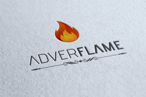 Flame Logo for Advertisement