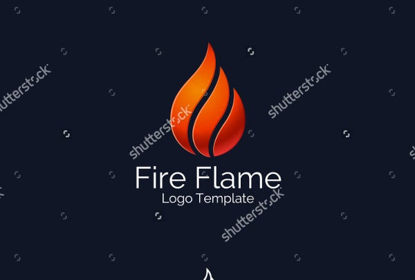 Abstract Fire Flame Wings Logo