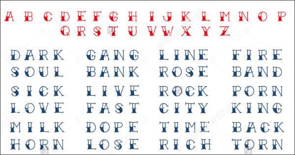 Funky Tattoo Font