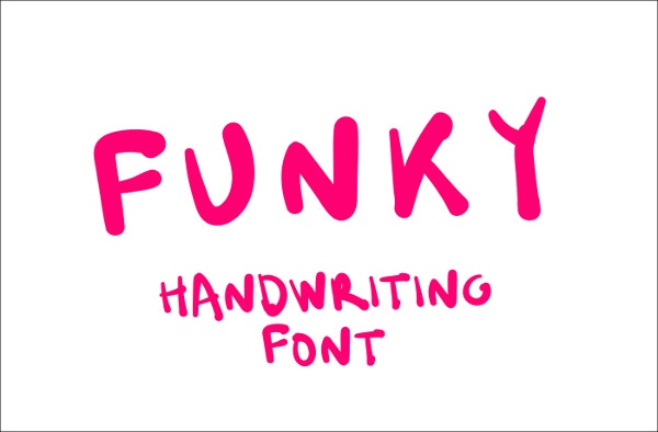 Funky Handwriting Font