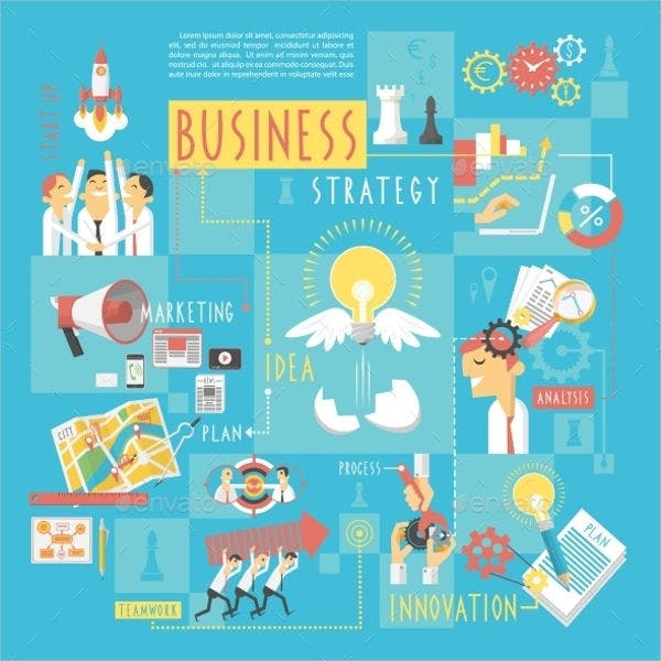business concept infographic poster