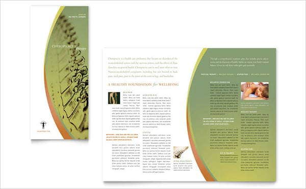 massage tri fold brochure