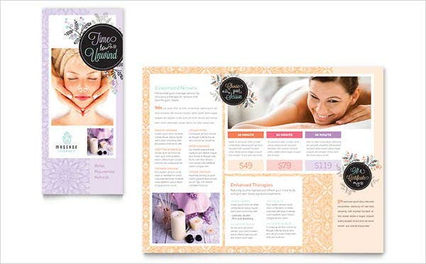 beauty massage brochure