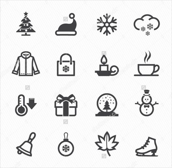 vector winter icons