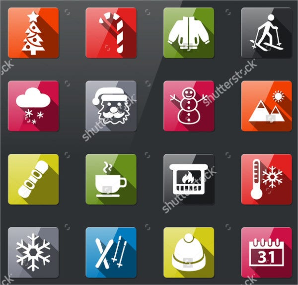 Flat Winter Icons