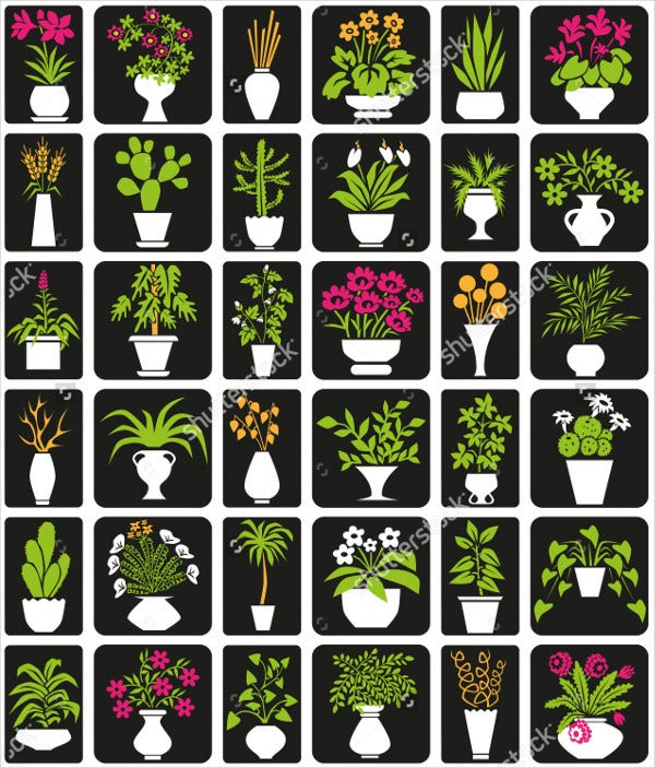 Flower Pot Icons