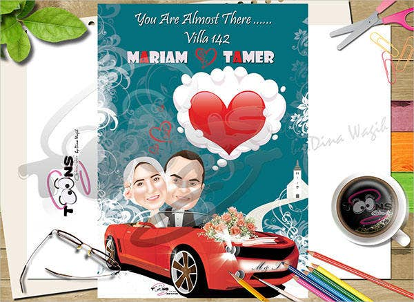 Cartoon Wedding Poster