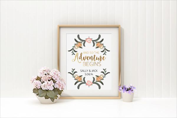 Floral Wedding Poster