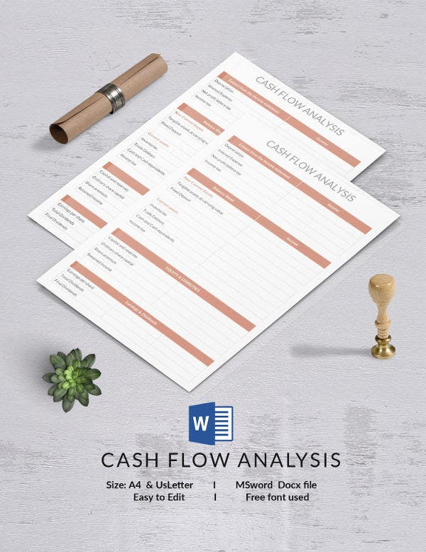 Cash Flow Analysis Template