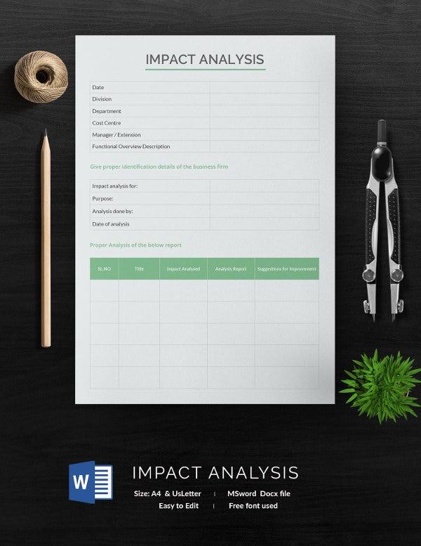Impact Analysis Template