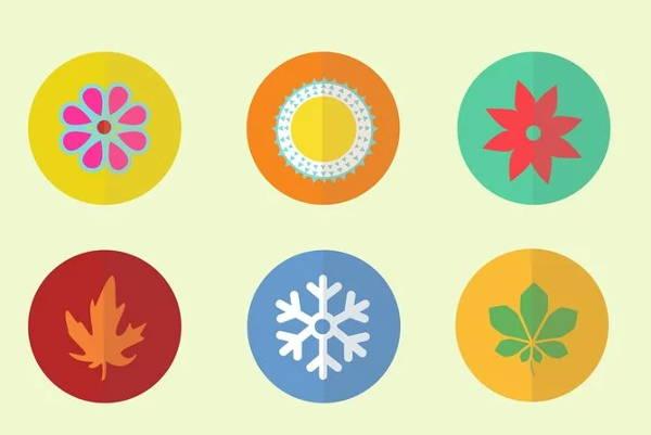 spring season icons