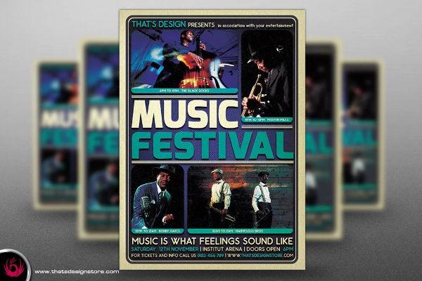 beautiful music festival flyer