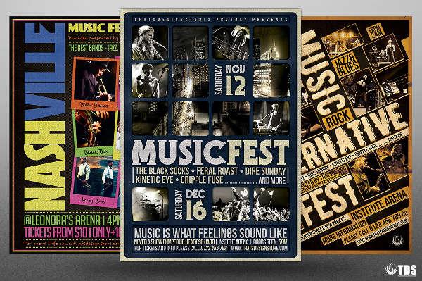 16  festival flyer templates